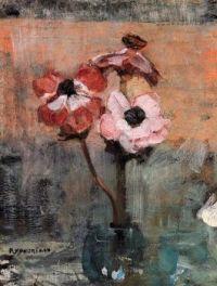 Piet Mondrian  Still life Anemones
