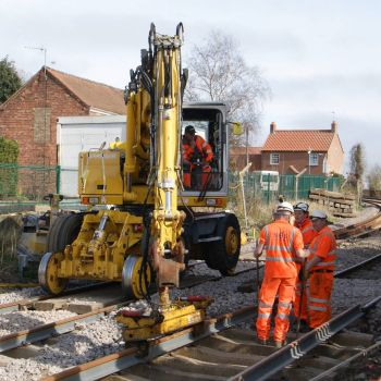 Track replacement, Wainfleet - 25th Mar 2012