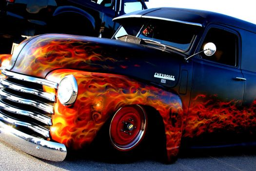 for Spunky 7 - hot chevy panel truck