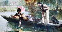 Picking waterlillies (1864)