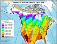 summer solstice sunset local times