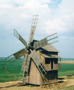 old mill in the Danube delta