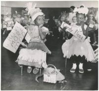 Fancy dress competition at Gloucester Guildhall, 1960