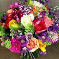 Happiness is.... A Bright, joyous Bridal Bouquet.