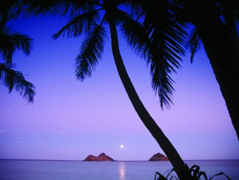Mokulua Islands, Lanikai Beach, Oahu, Hawaii