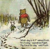 What day is it, asked Pooh