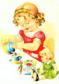 Themes Vintage illustrations/pictures - Tea for two
