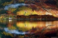 Fall in the Scottish highlands