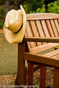 hat and bench
