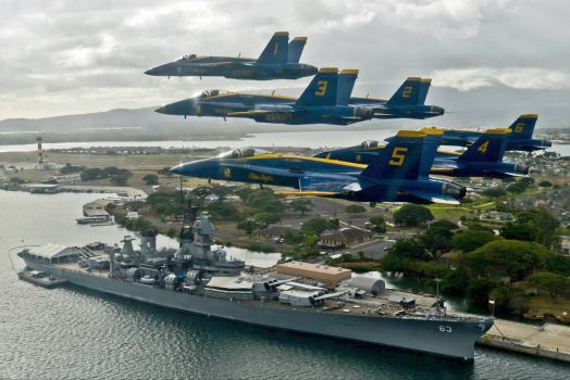 Navy Blue Angels Pearl Harbor