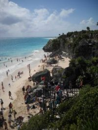 Looking down from Tulum