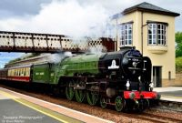 Tornado With Scotrail's Highland Caledonian at Gleneagles