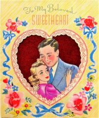 Themes Vintage illustrations/pictures - Love Greeting Card