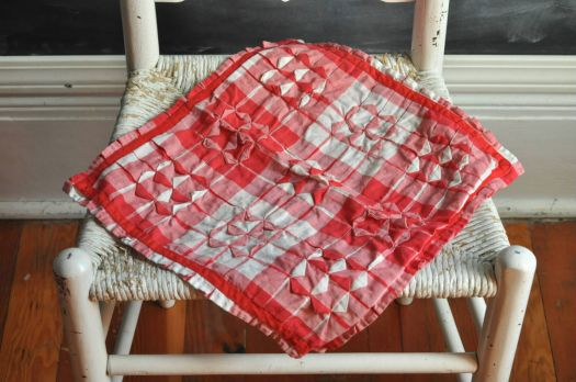 Vintage Checks on Chair Seat