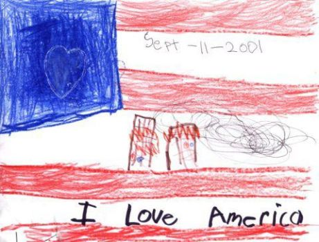 I LOVE AMERICA DRAWING