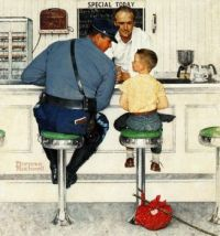 The Runaway {Norman Rockwell 1958}