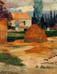 Landscape near Arles - Krajina poblíž Arles - 1888
