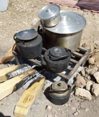 Traditional pans and pots