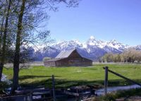 Theme: Mountains - Teton Range, Morman Row Barn, Wyoming.  Easier