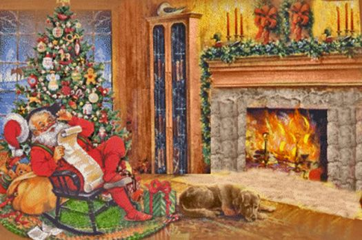 Santa in a Rocking Chair
