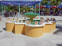 (27) attractive pool with sea shell decorations, San Salvador, 2018