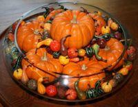 Gourds centerpiece