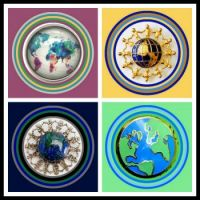Theme - Round and Oval - World Brooches for all my Worldwide Friends