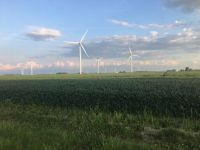 Wind farm in Northern Indiana