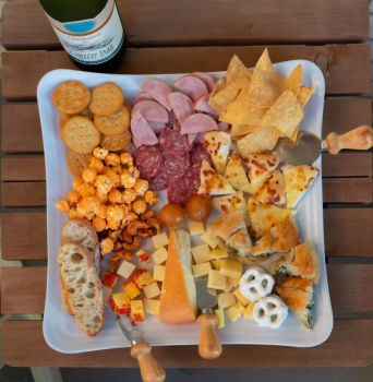 Homemade Meat Cheese and Snack Tray