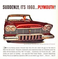 Suddenly, it's 1960!  Plymouth!