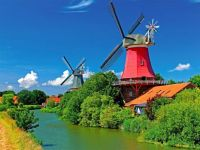 Windmills Along the Canal