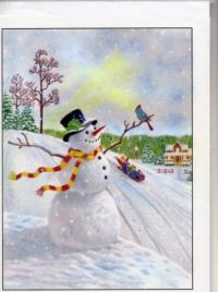 Visiting the snowman