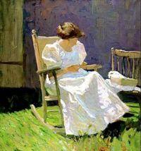 Mrs. N. C. Wyeth in a Rocking Chair, 1909, N. C. Wyeth (1882-1945)