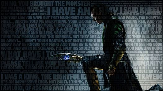 An awesome Loki-themed wallpaper I found online somewhere