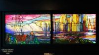 Chicago Skyline, complete,  smith museum of stained glass windows