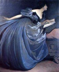 """Althea"" by John White Alexander (American, 1856-1915)"