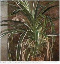 Lucien Freud self-portrait with plant