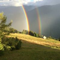 Double rainbow in French Alps