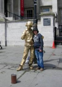 Trafalgar Square Mime 2