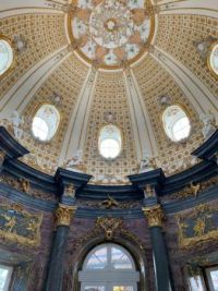 Inside of the sun temple in the Hermitage in Bayreuth, Germany.  6085