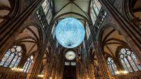 Moon by Luke Jarram in Strasbourg Cathedral