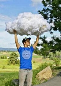 Catching a cloud!