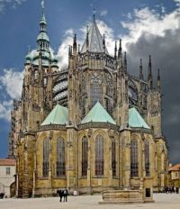 THEME: Churches - St. Vitus Cathedral in Prague.
