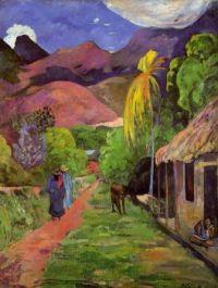 Paul Gauguin - Rue de Tahiti ( large  )