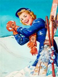 Themes vintage illustration - Winter Fun