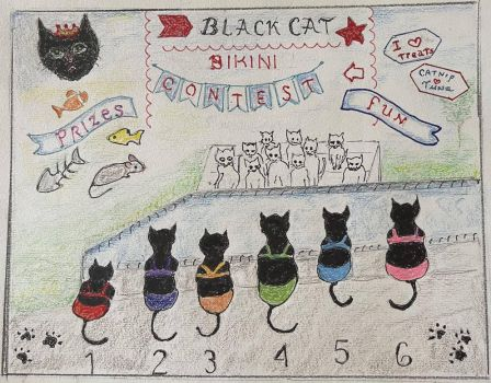 Black Cat Bikini Contest
