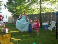 Cinderella came to my niece's 3rd birthday party