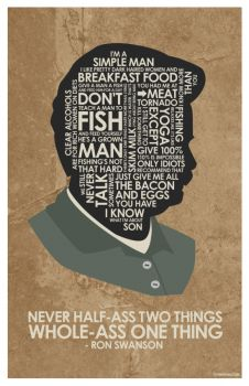 Ron Swanson Quote Poster by outnerdme