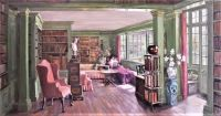 Library at Chancellor's House, Hyde Park Gate, London
