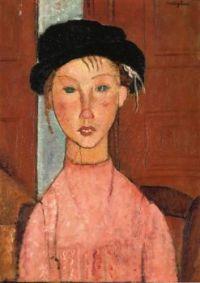 Young Girl in Beret - Mladá dívka v baretu - 1918